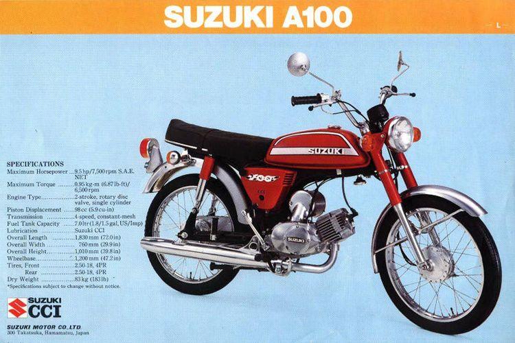 A100 menjadi salah satu yang akan dipamerkan untuk bernostalgia dengan sepeda motor motor Suzuki jadul di ajang Indonesia Motorcycle History (IMH).