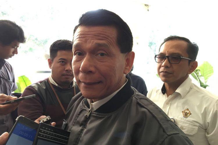 Anggota Badan Pemeriksa Keuangan (BPK) Rizal Djalil saat memaparkan temuan pelanggaran lingkungan oleh PT Freeport Indonesia di kantor pusat BPK, Jakarta Pusat, Senin (19/3/2018).