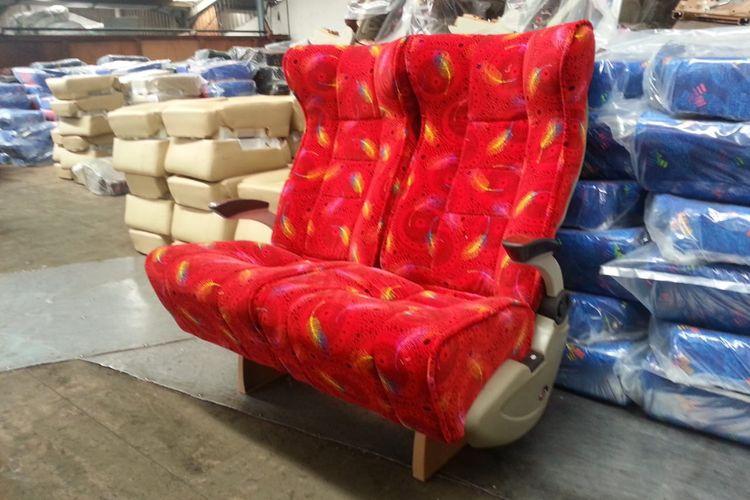 Kursi bus bahan fabric