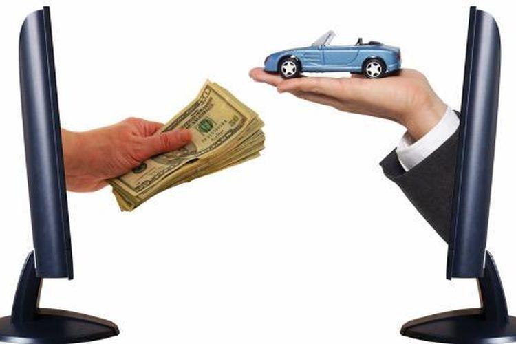 Ilustrasi beli mobil secara online