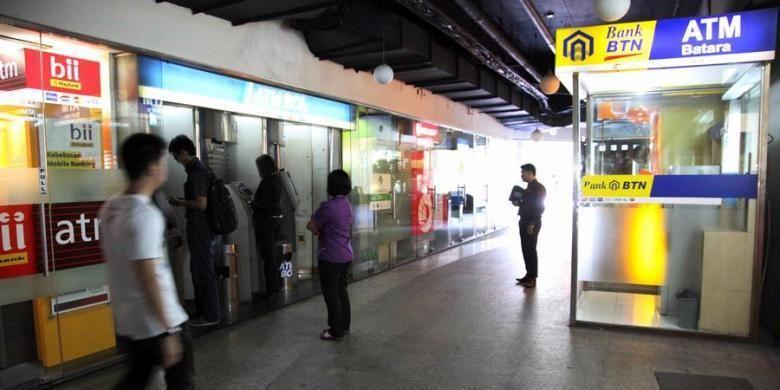 Ilustrasi ATM milik bank-bank nasional