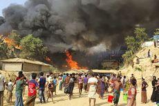 Pagar Kawat Berduri Jebak Pengungsi Rohingya dalam Kebakaran Hebat, 7 Orang Tewas