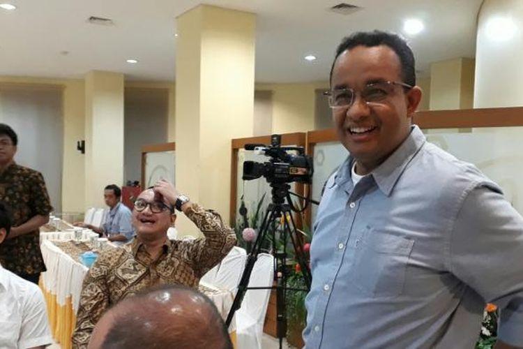Calon gubernur DKI Anies Baswedan di acara silaturahmi dengan pendukung di DPP PKS di Jalan TB Simatupang, Jakarta Selatan, Selasa (24/1/2017)