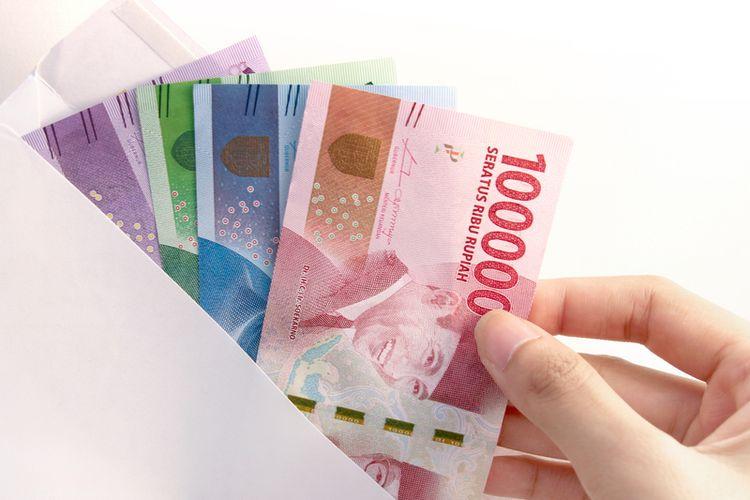 Ilustrasi gaji, rupiah, pesangon, tunjangan