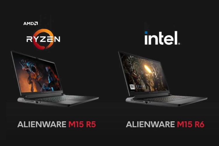 Alienware m15 R5 dan m15 R6.
