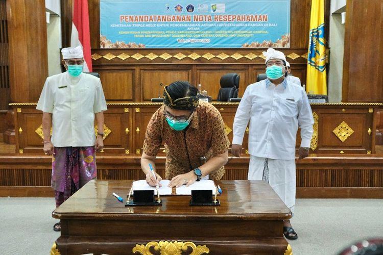 Penandatanganan nota kesepahaman kemitraan tiga pihak