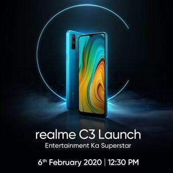 Undangan peluncuran Realme C3.