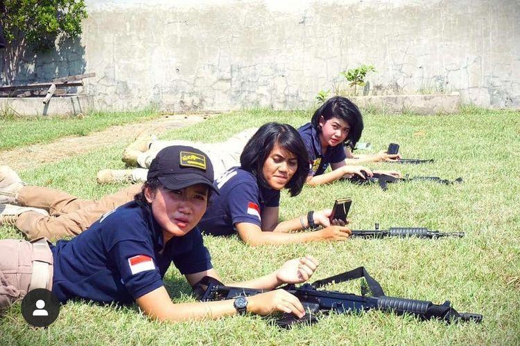 aksi-aksi Polwan yang bergabung dengan Tim Tiger Polres Metro Jakarta Utara