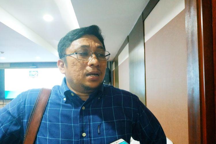 Direktur Eksekutif Pusat Studi Konstitusi (Pusako) Universitas Andalas Feri Amsari di Kantor Kemendagri, Jakarta Pusat,Rabu (19/2/2020).'