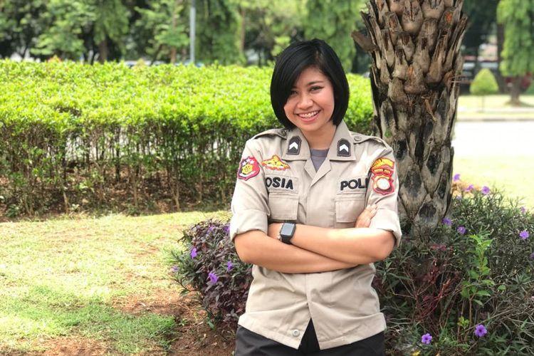 Bripka Yosia Primi Wahyudi, Polwan Polres Jakarta Pusat, Kamis (12/9/2019).