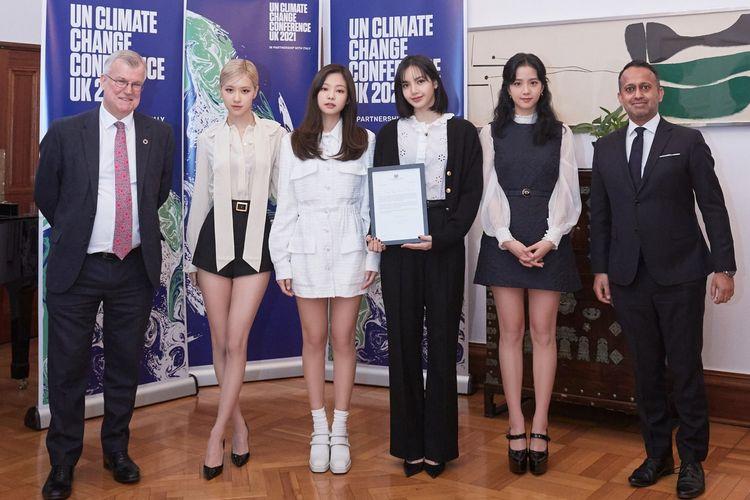 BLACKPINK secara resmi ditunjuk sebagai duta untuk Konferensi Perubahan Iklim PBB (COP26) tahun 2021
