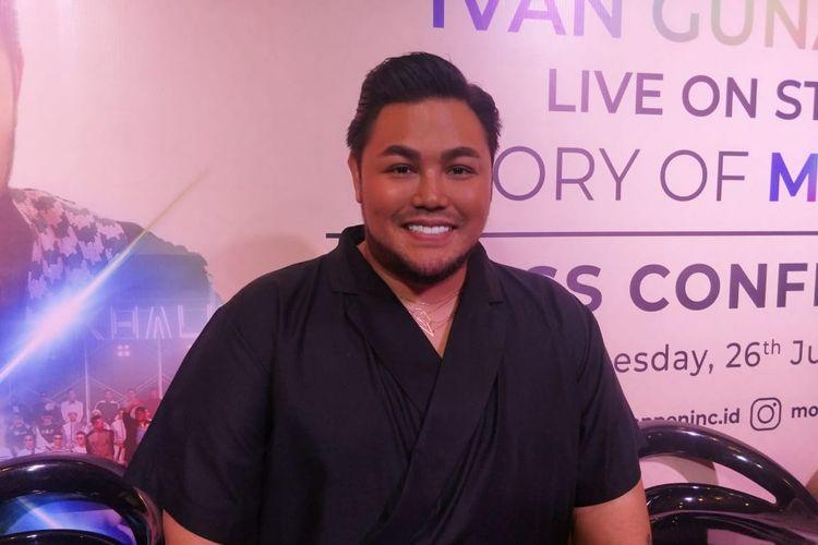 Ivan Gunawan dalam jumpa pers Ivan Gunawan Live On Stage, Story Of My Life di kawasan Kebayoran Baru, Jakarta Selatan, Rabu (26/6/201