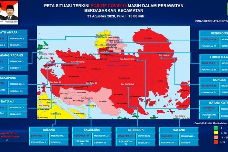 Peningkatan kasus terkonfirmasi positif corona atau covid-19 di Batam, Kepulauan Riau (Kepri) terus meningkat. Bahkan total hari ini, Selasa (2/9/2020) menjadi 667 kasus di Batam setelah ada penambahan empat kasus di Batam. Bahkan saat ini Batam kemabli masuk zona merah.