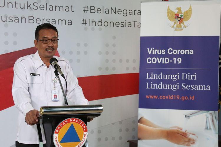 Kepala Badan Penelitian dan Pengembangan, Pendidikan dan Pelatihan dan Informasi Kemendes PDTT Eko Sri Haryanto saat memberikan keterangan di Graha BNPB, Jakarta, Selasa (31/3/2020).