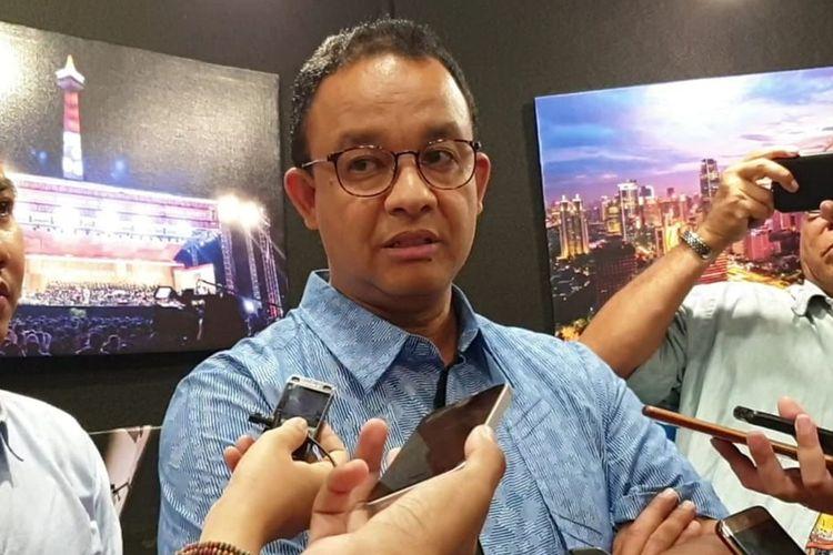 Gubernur DKI Jakarta Anies Baswedan di Blok G, Balai Kota, Jakarta Pusat, Sabtu (19/10/2019)