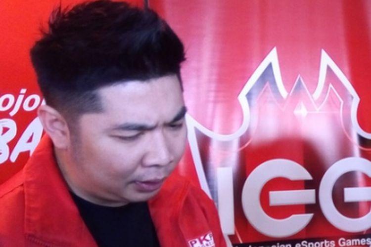 Ketua Divisi E-sports PKPI Yudi Kurniawan. Sebagai atlet olahraga E-sports, Yudi berlatih selama delapan jam sehari.