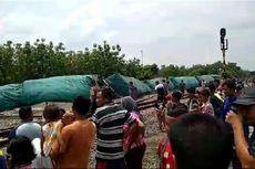 Kronologi 10 Gerbong Semen Terguling di Blora, Angkut 1.1360 Ton Semen hingga Tak Ada Korban Jiwa
