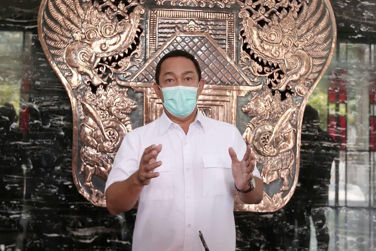 Wali Kota Semarang Hendrar Prihadi pada sesi keterangan pers Rabu (21/7/2021).