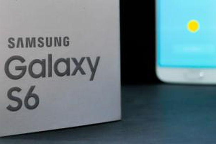 Kotak kemasan Samsung Galaxy S6