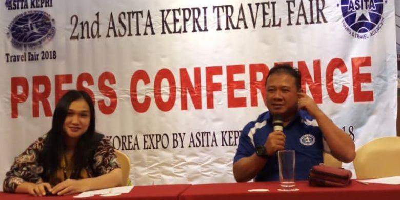Dewan Pengurus Daerah Asosiasi Perusahaan Perjalanan Wisata (Asita) Kepulauan Riau (Kepri) menggelar 2nd Asita Kepri Travel Fair 2018, yang digelar mulai Kamis (3/5/2018) hingga Minggu (6/5/2018).