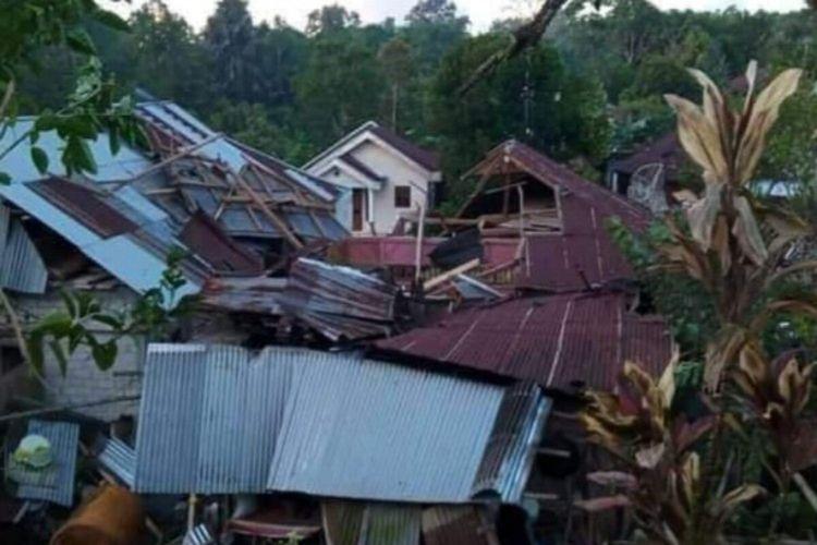 Sejumlah rumah warga rusak diterjang angin puting beliung
