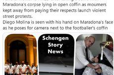 Petugas Pemakaman Berfoto dengan Jasad Maradona, Penggemar Marah