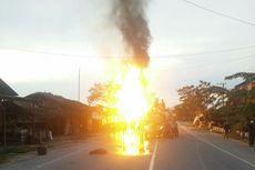 Kecelakaan Maut Sebabkan Mobil Terbakar, 5 Orang Tewas
