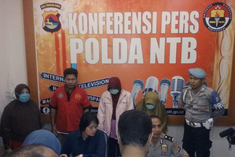 Polda NTB gelar perkara terkait kasus Tindak Pidana Perdagangan Orang (TPPO), terkait TPPO yang memperdagangkan anak dibawah umur ke negara berkonflik seperti Damaskus-Suria, Senin (17/6/2019) lalu.