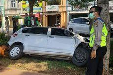 Sopir Mengantuk, Mobil Tercebur ke Selokan di Serpong