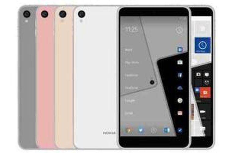 Render grafis Android Nokia C1 yang beredar di Weibo.