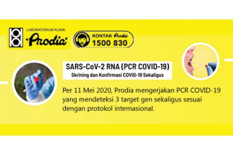 Tes RT-PCR (PCR COVID-19) yang mendeteksi 3 (tiga) target gen sekaligus