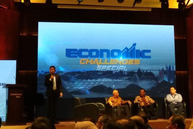 Menteri Energi dan Sumber Daya Mineral Ignasius Jonan dalam Acara Energi Untuk Kedaulatan Rakyat di Jakarta, Selasa (2/4/2019)