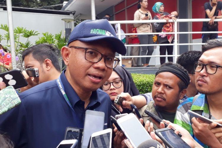 Direktur Utama PT MRT Jakarta William Sabandar di Bundaran Hotel Indonesia, Jakarta Pusat, Minggu (24/3/2019).