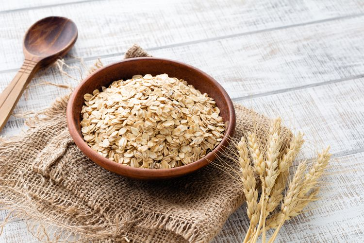 ilustrasi rolled oat.