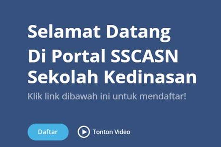 Laman portal SSCASN untuk Sekolah Kedinasan.