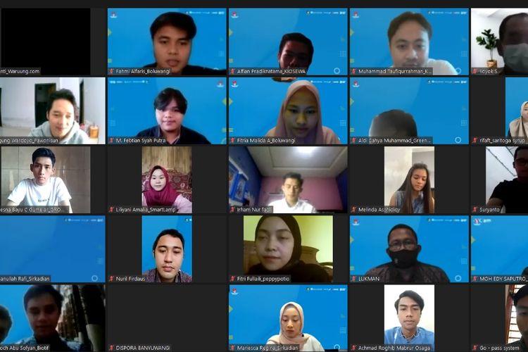 Bupati Banyuwangi Ipuk Fiestiandani saat meluncurkan program tersebut secara virtual, Kamis (22/7/2021).