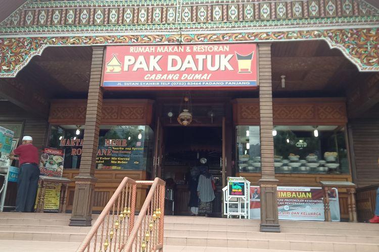 RM Pak Datuk Padang Panjang bertahan di tengah pandemi dengan terapkan protokol kesehatan yang ketat dan konsisten