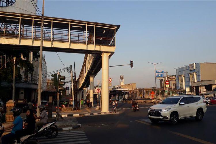 Stasiun LRT Velodrome, Rawamangun, Jakarta Timur yang sudah terintegrasi dengan Transjakarta mulai Jumat (26/7/2019) mendatang.