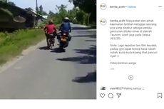 Viral, Pencuri Cincin Emas Kabur, Dikejar dan Ditendang Motornya tapi Tak Jatuh