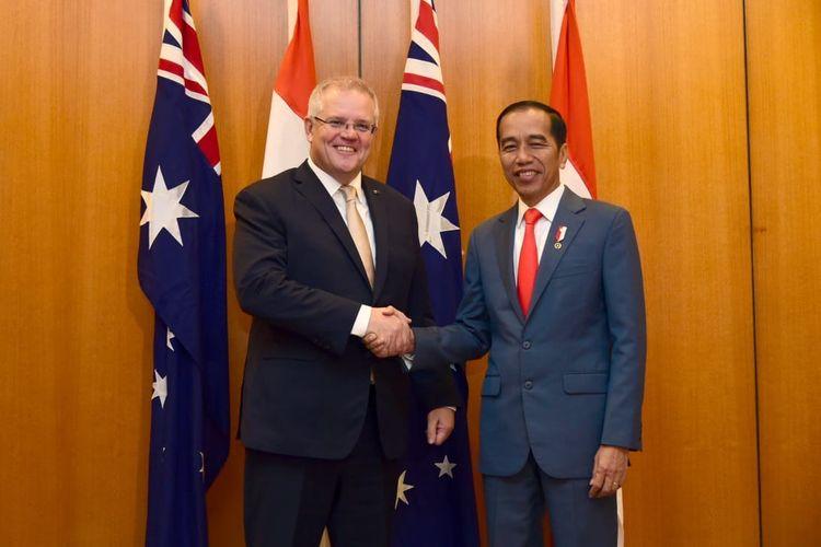 Presiden Jokowi bertemu dengan Perdana Menteri (PM) Australia Scott Morrison, Senin (10/2/2020).
