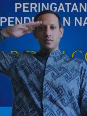 Mendikbud Nadiem Makarim dalam peringatan Hari Pendidikan Nasional (Hardiknas 2020) yang dilaksanakan Kemendikbud secara daring (2/5/2020).