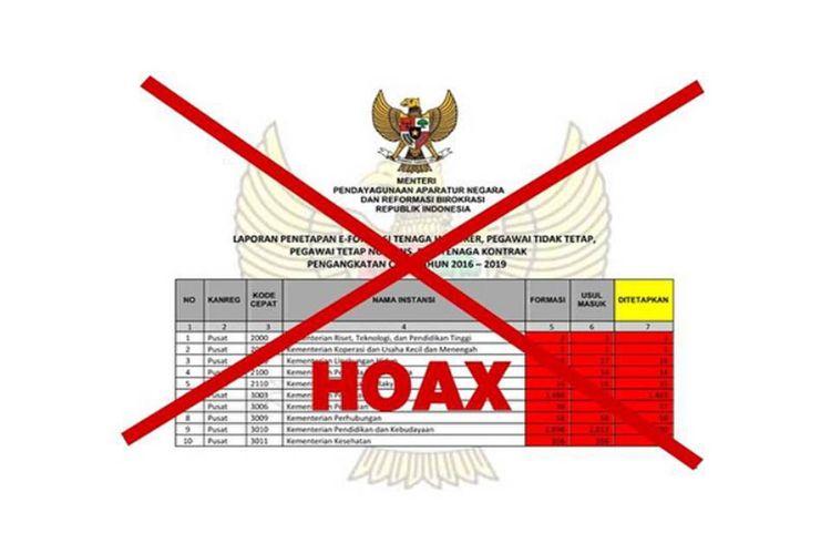 Hoaks Informasi Soal Formasi Pengangkatan Cpns 2016 2019