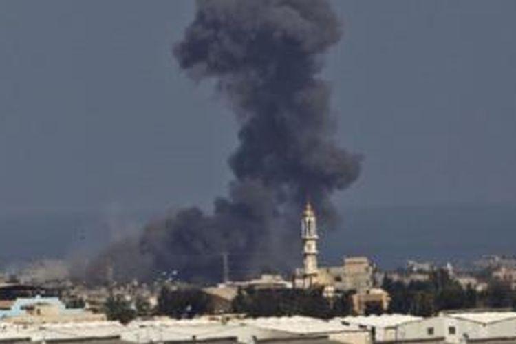 Ilustrasi: Serangan Israel ke Gaza