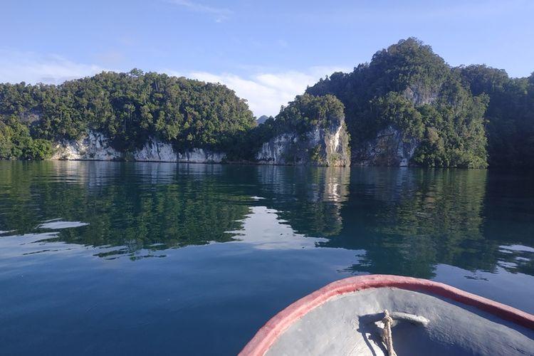 Teluk Kabui, Raja Ampat. Foto diambil pada Kamis (27/9/2018).