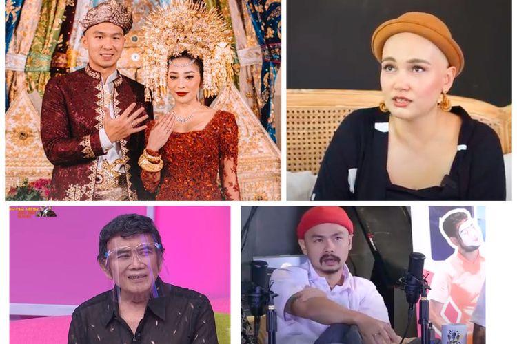 Kolase foto Nikita Willy dan Indra Priawan, Feby Febiola, Rhoma Irama, dan Wendi Cagur
