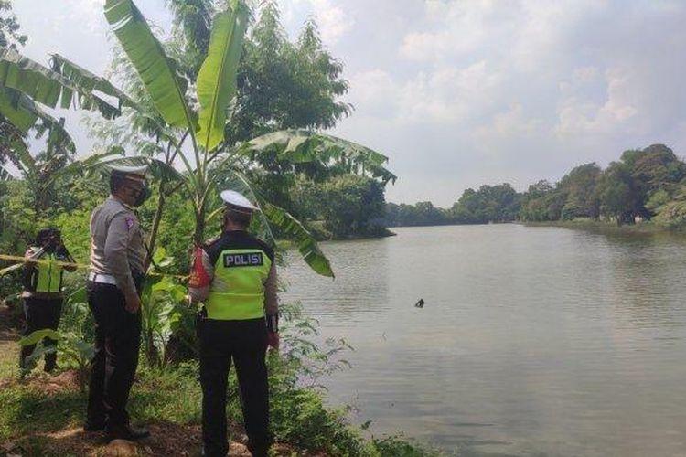 Suasana di Danau Buperta, Jawa Barat usai jatuhnya helikopter, Jumat (28/5/2021).