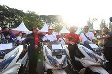 Konvoi Kendaraan Listrik di Monas, Motor Listrik Gesits Dipakai 3 Menteri