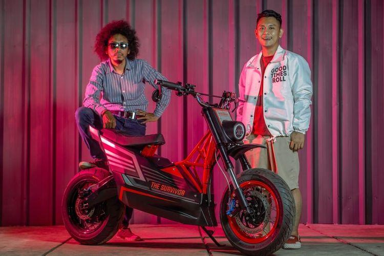 Honda BeAT yang dikonversi ke motor listrik oleh Katros Garage