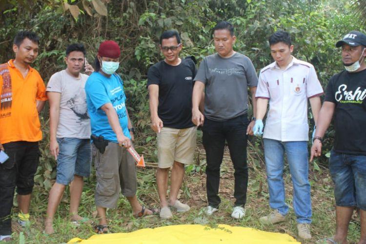Lokasi penemuan jenazah Sofyan (43) yang ditemukan tinggal tulang di Kecamatan Lakitan Kabupaten Musi Rawas, Sumatera Selatan.