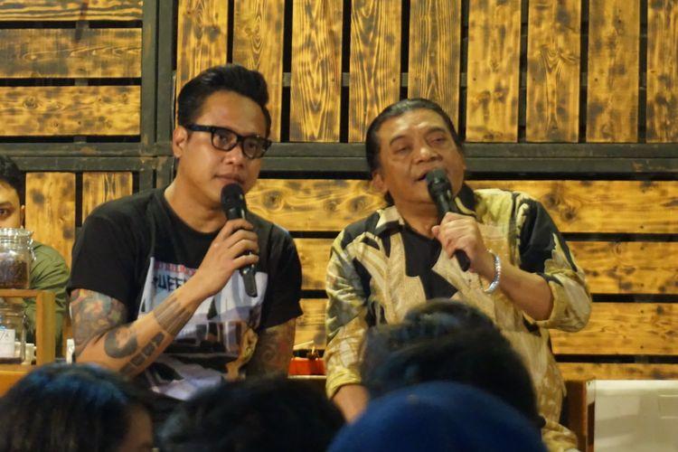 YouTuber Gofar Hilman yang menggelar acara Ngobam (Ngobrol Bareng Musisi) bersama Didi Kempot di Wedangan Gulo Klopo, Kartosuro, Jawa Tengah, Minggu (14/7/2019) malam
